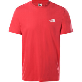 The North Face Simple Dome Camiseta Manga Corta Hombre, rococco red